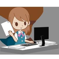 パソコンで御見積り書を作成する女性社員~工作機械・産業機械のメンテナンス・修理・改造・据付/山崎マシンテック株式会社